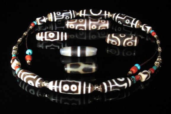 Thumbnail image for Tibetan Dzi Beads